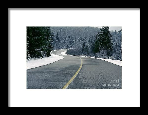Canada Framed Print featuring the photograph Winter Road by Jessie Parker