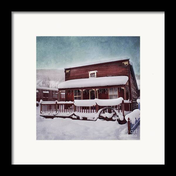 House Framed Print featuring the photograph Winter Sleep by Priska Wettstein