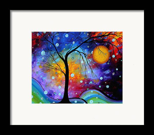 Abstract Framed Print featuring the painting Winter Sparkle Original Madart Painting by Megan Duncanson