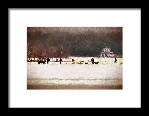 Winter Framed Print featuring the digital art Winter Splash Xxxii by Tina Baxter