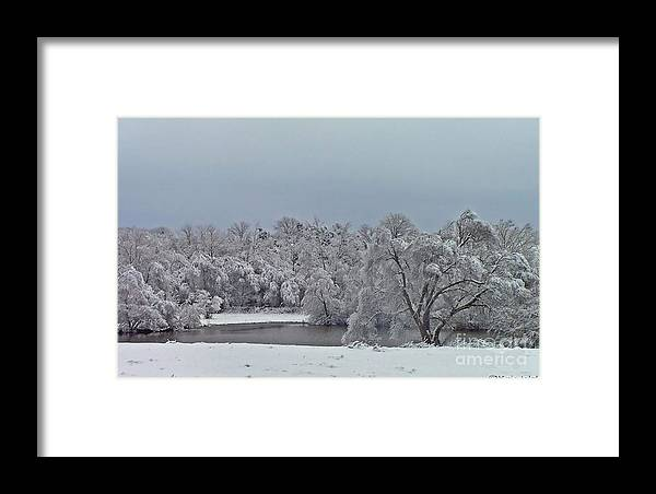 Winter Framed Print featuring the photograph Winter Storm 2010 by Kris Wolf