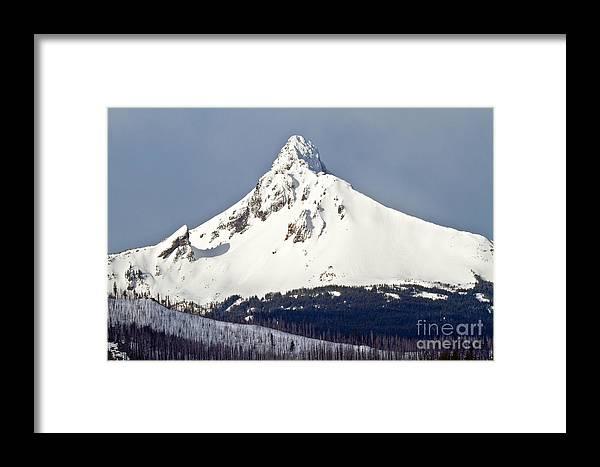 Cascade Range Framed Print featuring the photograph Winter Storm Over Mt. Washington by Stuart Gordon