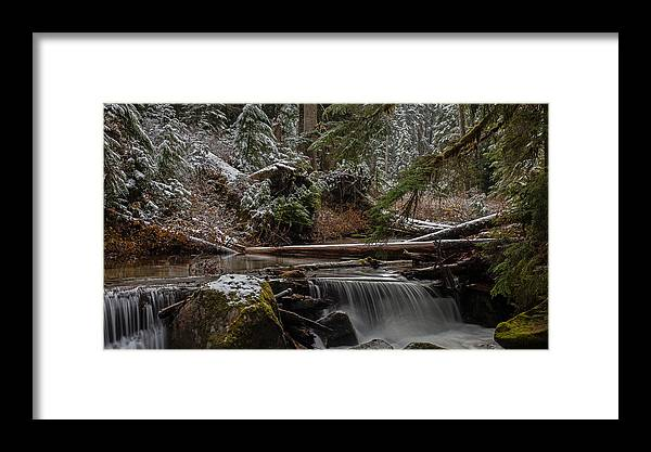 Stream Framed Print featuring the photograph Winter Stream by Mike Reid