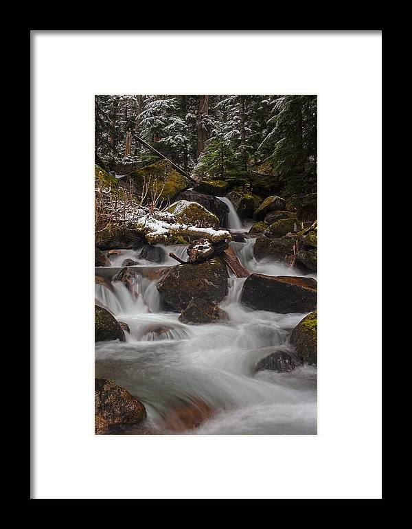 Stream Framed Print featuring the photograph Winter Stream Tranquility by Mike Reid