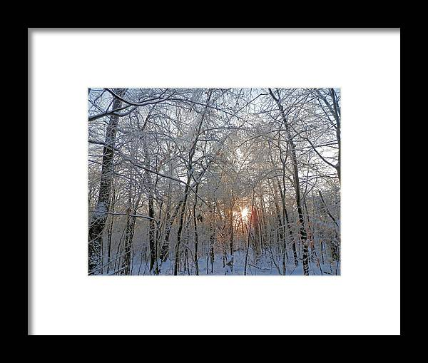 Sunset Framed Print featuring the photograph Winter Sunset by Pema Hou