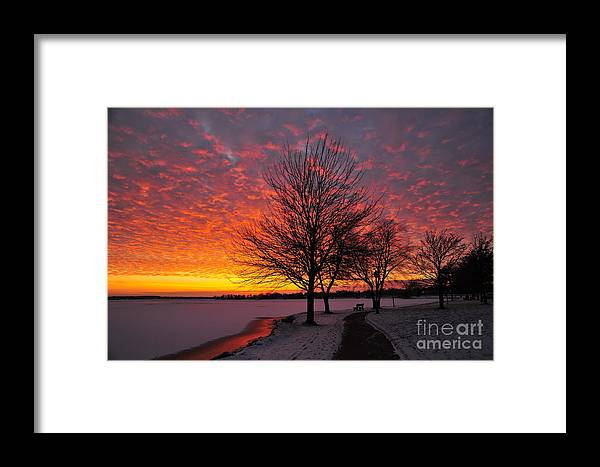 Winter Framed Print featuring the photograph Winter Sunset by Terri Gostola