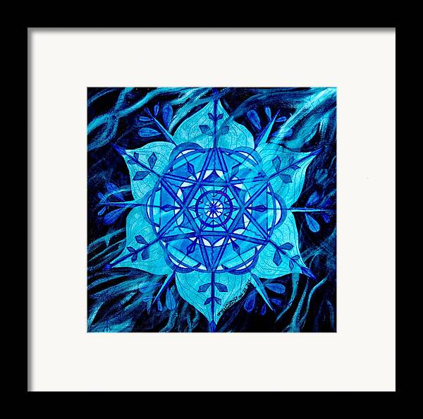 Winter Framed Print featuring the painting Winter by Teal Eye Print Store