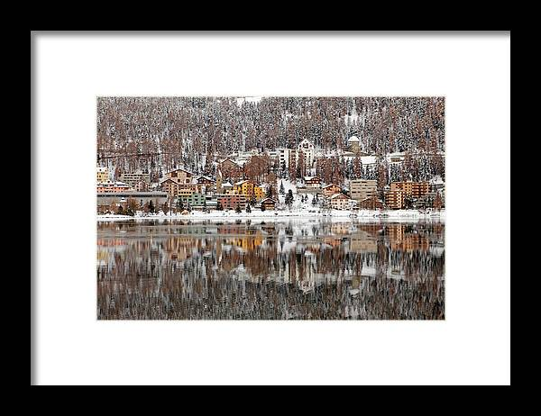 Holiday Framed Print featuring the photograph Winter View Of Saint Moritz by Massimo Pizzotti