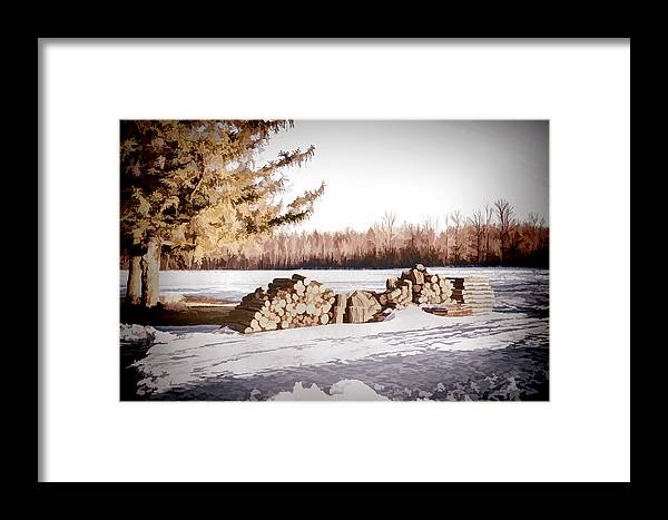 Wood Framed Print featuring the photograph Winter Wood by Ray Summers Photography