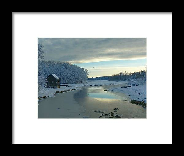 Snow Framed Print featuring the photograph Winterlude by Elaine Franklin