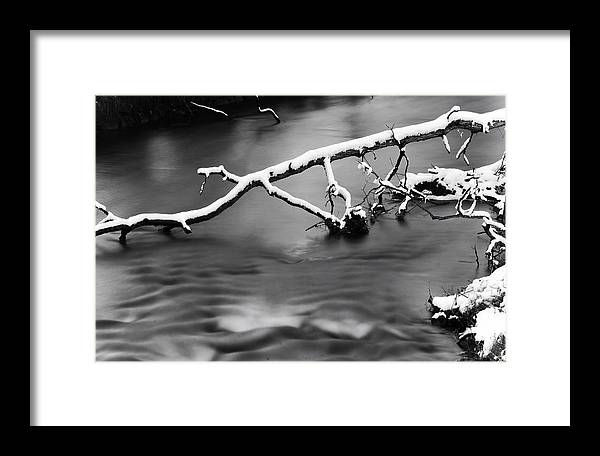 Water Framed Print featuring the photograph Winters Creek by Steven Matalenas