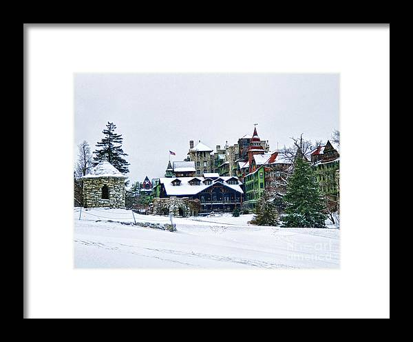 Mohonk Framed Print featuring the photograph Wintertime by Claudia Kuhn