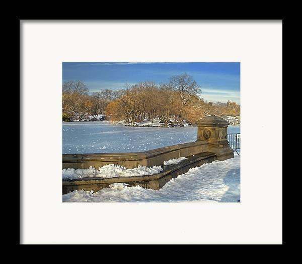 Central Park Framed Print featuring the photograph Wintery Afternoon At Bathsheba Terrace by Muriel Levison Goodwin