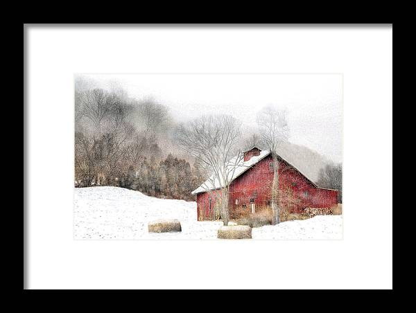 Barns Framed Print featuring the photograph Wintry Mix by William Griffin