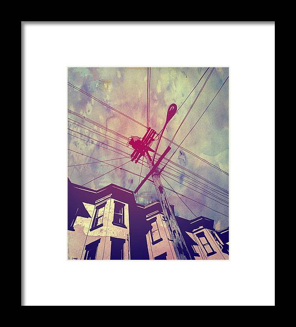 Giuseppe Cristiano Framed Print featuring the drawing Wires by Giuseppe Cristiano