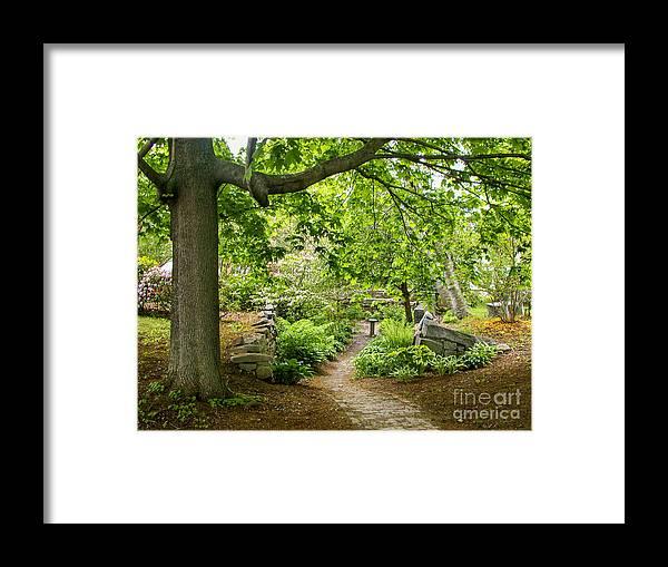 Garden Framed Print featuring the photograph Wiscasset Sunken Garden by Jim Block