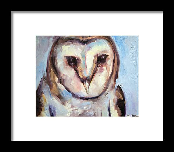 Animal Framed Print featuring the painting Wise Eyes by Meredith Oneal