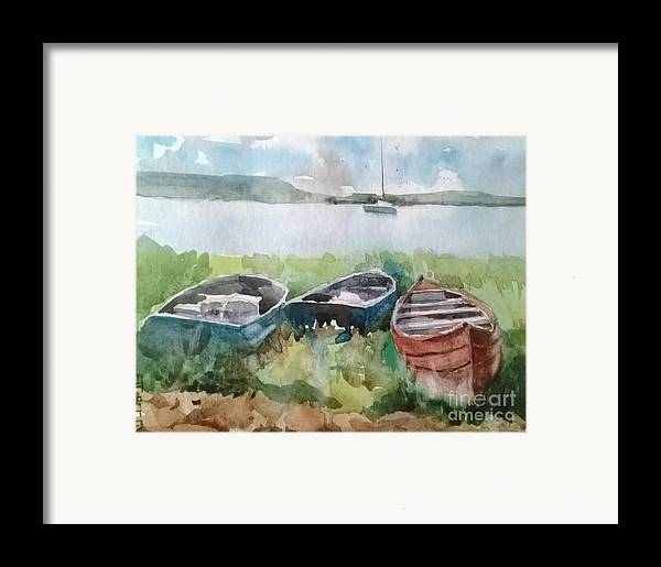 Landscape Framed Print featuring the painting Wishing And Hoping by Elizabeth Carr