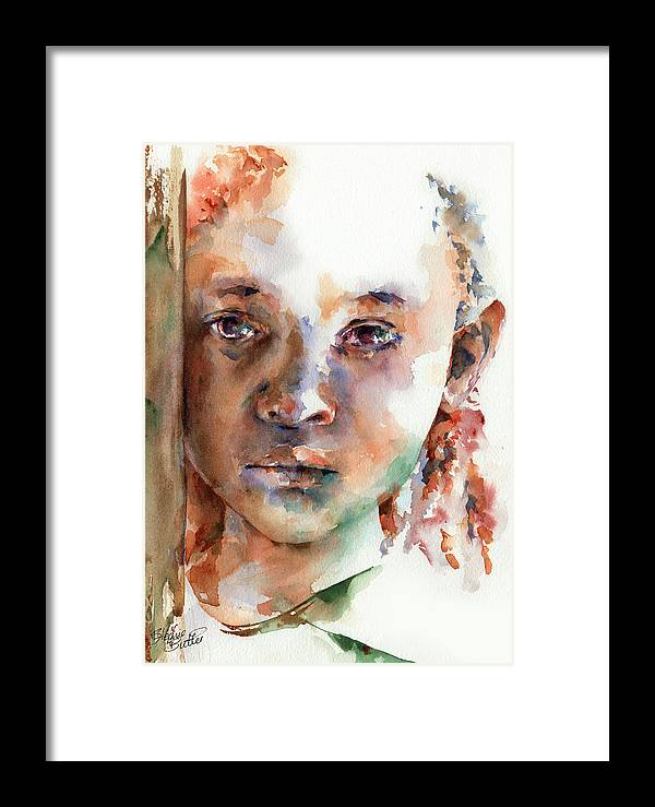 Girl Framed Print featuring the painting Wistful by Stephie Butler