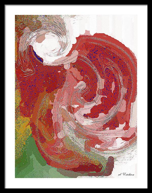 Modern Framed Print featuring the digital art With A Swirl Of Skirt by Roy Erickson