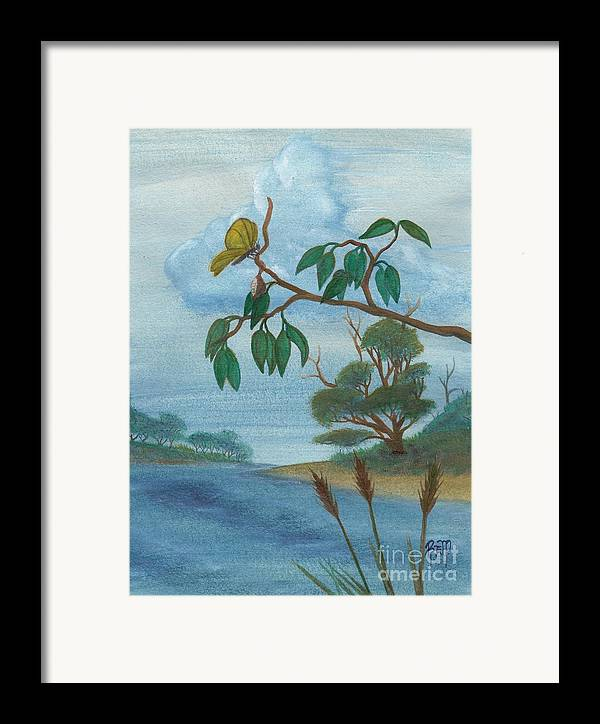 Watercolor Framed Print featuring the painting With New Wings by Robert Meszaros