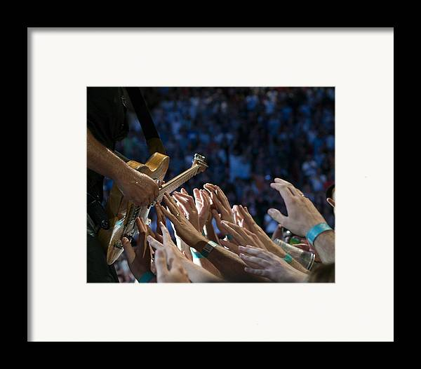 Springsteen Framed Print featuring the photograph With These Hands by Jeff Ross