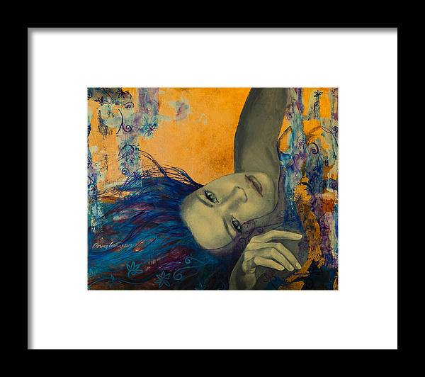 Art Framed Print featuring the painting Within Temptation by Dorina Costras