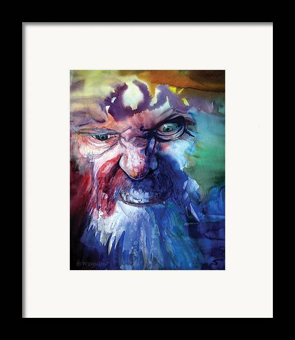 Emotions Framed Print featuring the painting Wizzlewump by Frank Robert Dixon