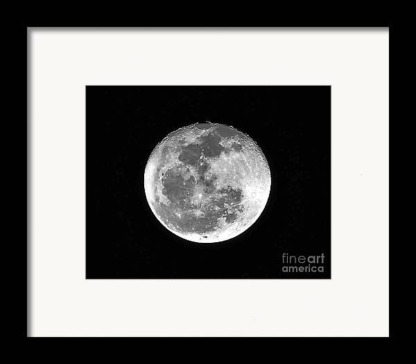 Moon Framed Print featuring the photograph Wolf Moon Waning by Al Powell Photography USA