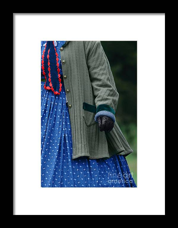 Alone Framed Print featuring the photograph Woman In Civil War Period Clothing by Stephanie Frey