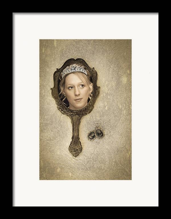 Woman Framed Print featuring the photograph Woman In Mirror by Amanda Elwell