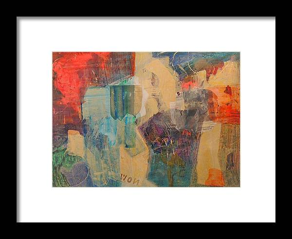 Collage Framed Print featuring the painting Won Inside Out by Jgyoungmd Aka John G Young MD