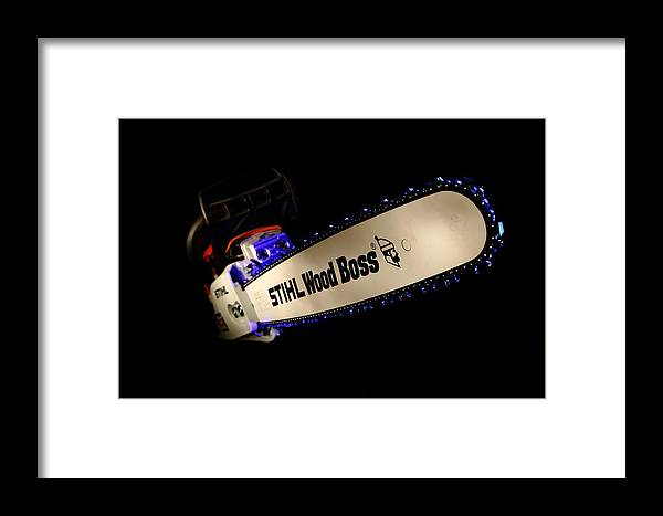 Stihl Framed Print featuring the photograph Wood Boss by David Andersen
