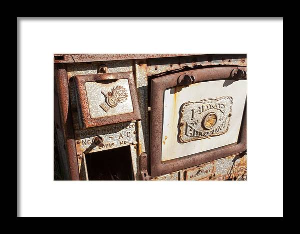 Cook Stove Framed Print featuring the photograph Wood Cook Stove by Wayne Vedvig