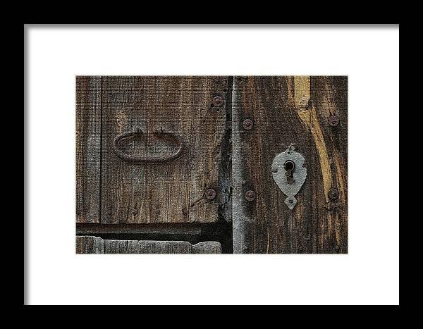 Door Framed Print featuring the photograph Wood Door by Tod Ramey