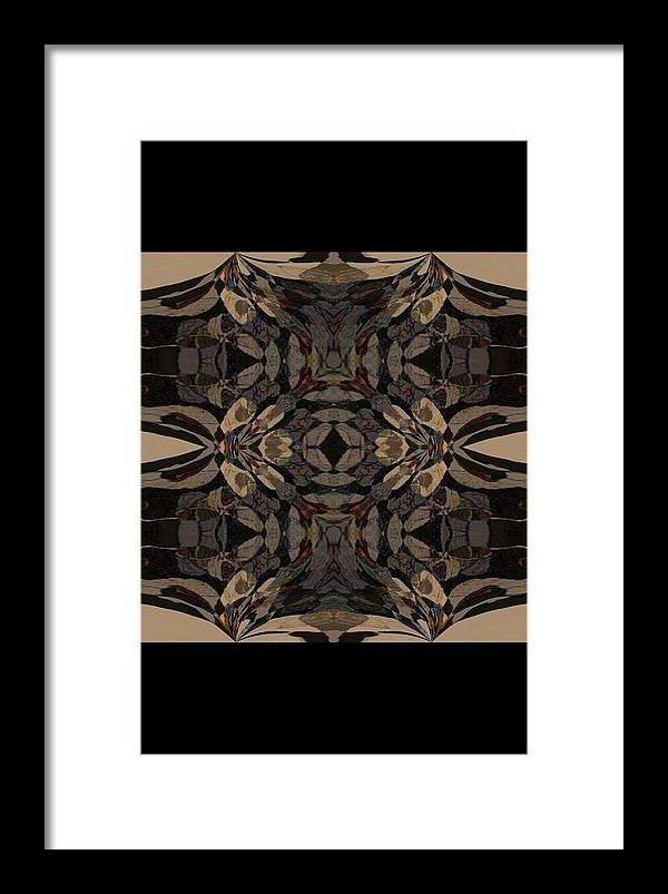 Abstract Wood Inlay Framed Print featuring the digital art Wood Inlay by Amanji jill Duke