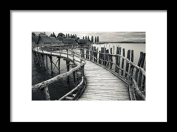 Walk Framed Print featuring the photograph Wooden Boardwalk by Oliver Koch