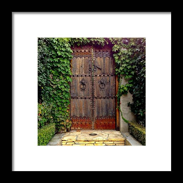 Wooden Gate Framed Print featuring the photograph Wooden Gate by Julie Gebhardt