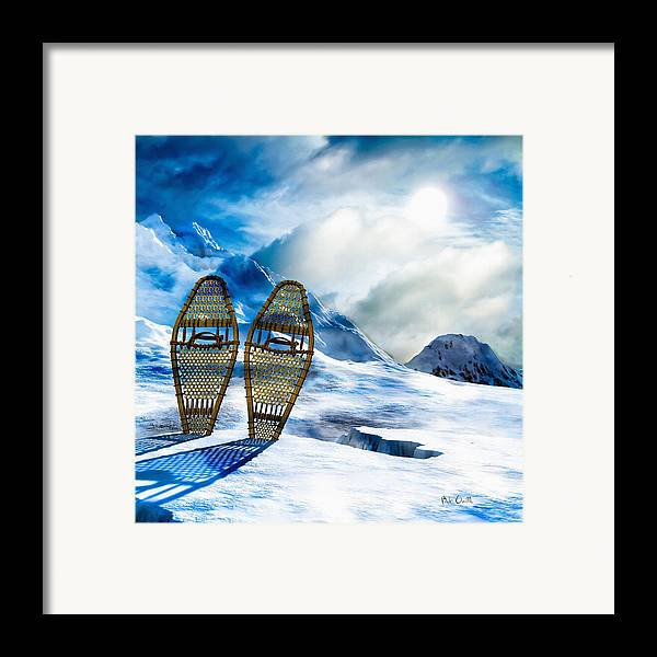 Winter Framed Print featuring the photograph Wooden Snowshoes by Bob Orsillo