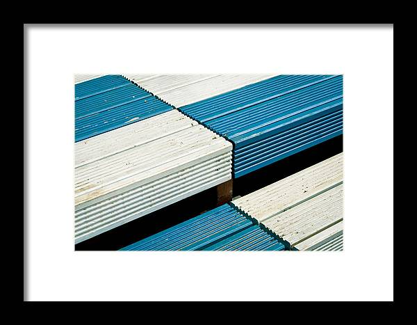 Achievement Framed Print featuring the photograph Wooden Steps by Tom Gowanlock