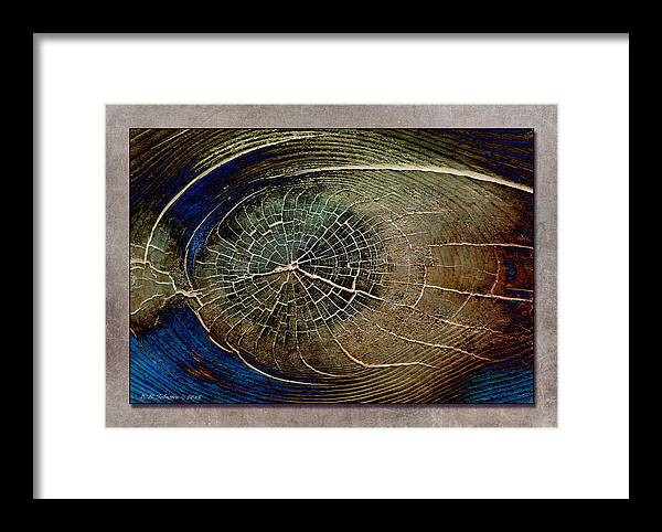 Wood Framed Print featuring the photograph Woodeye by WB Johnston