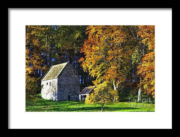 Woodhouses Bastle Framed Print featuring the photograph Woodhouses Bastle Northumberland - Photo Art by Les Bell