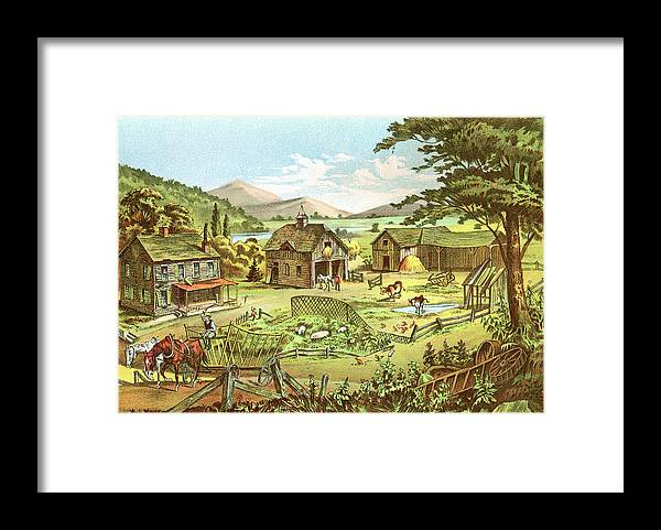 Horse Framed Print featuring the digital art Woodland Home Ten Years Later In Hands by Nnehring