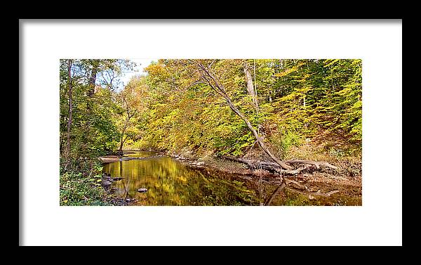 Pennypack Creek Framed Print featuring the photograph Woodland Stream Early Autumn Montgomery County Pennsylvania by A Gurmankin