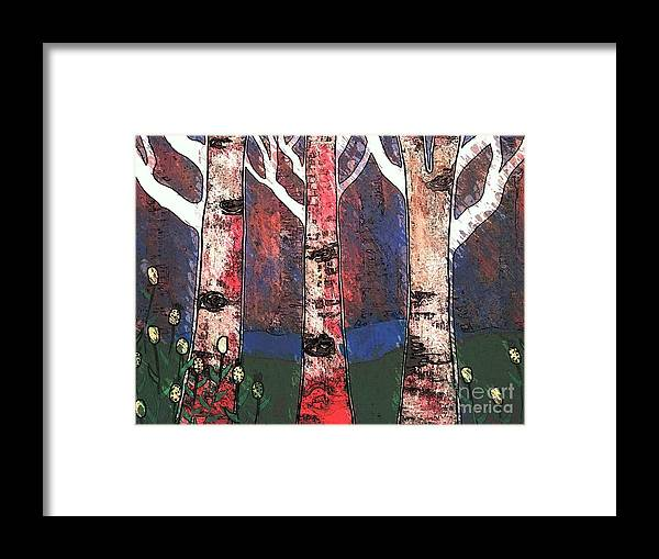 Woods Framed Print featuring the painting Woodlin by Amy Sorrell
