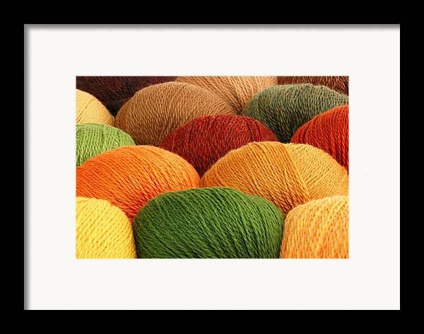 Yarn Framed Print featuring the photograph Wool Yarn by Jim Hughes