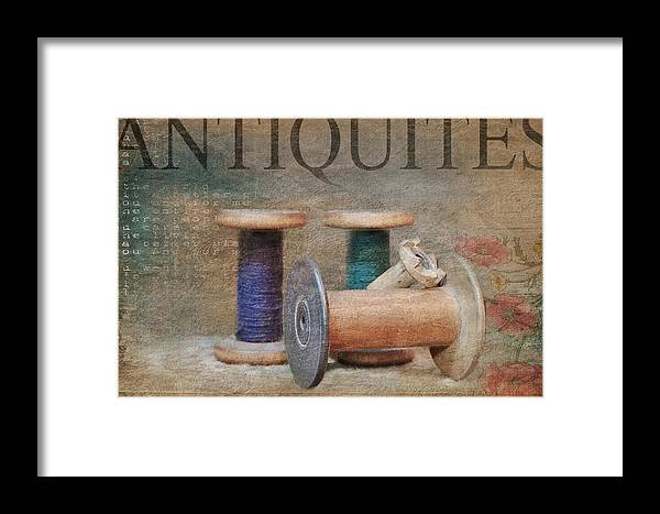 Spools Framed Print featuring the photograph Woolrich Woolen Mill Spools by Stephanie Calhoun