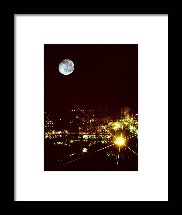 Worcester Framed Print featuring the photograph Worcester Moon by David DeCenzo
