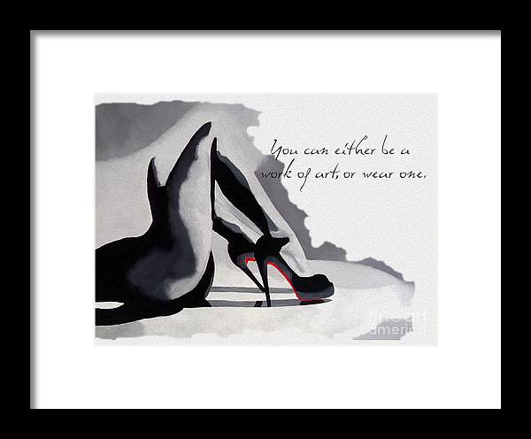 Fashion Framed Print featuring the mixed media Work Of Art by Rebecca Jenkins