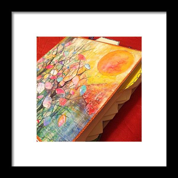 Watercolor Framed Print featuring the photograph Working On Some #handmade #artjournals by Robin Mead